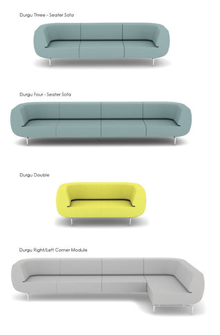 Durgu modern sofa in all sizes