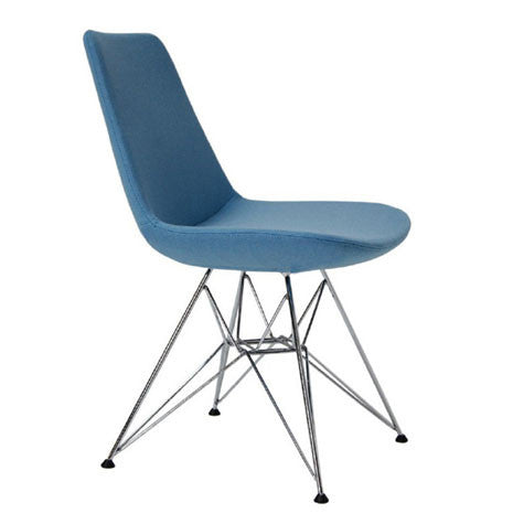 Buy Eiffel Tower modern dining chair in sky blue wool | 212Concept
