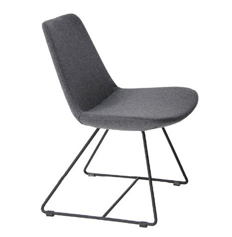 Eiffel Wire chair with dark grey wool