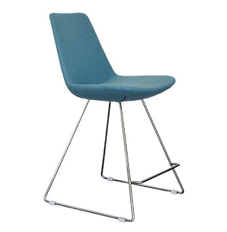 Eiffel Wire modern barstool with steel base