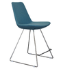 Eiffel Wire modern barstool in sky blue wool