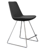 Eiffel Wire modern barstool in dark grey wool