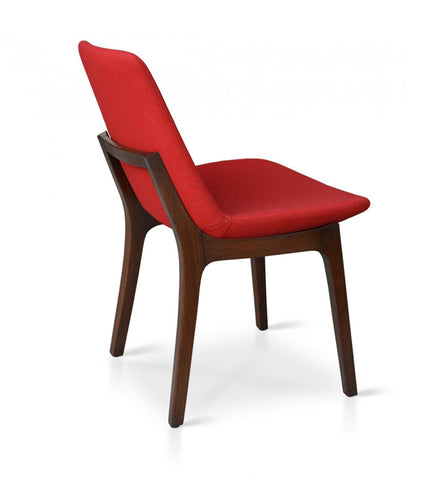 Buy Eiffel Wood Chair Dark Red Wool | 212Concept