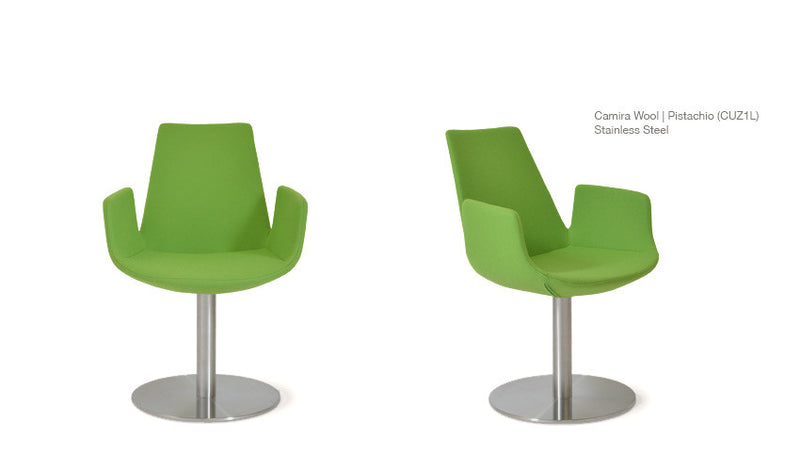 Modern Classic Eiffel Arm Round Green Chair | 212Concept