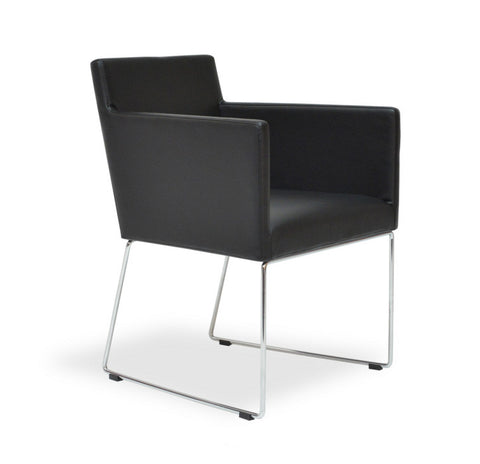 Buy Ample Shell Sled Base Modern Armchair | 212Concept