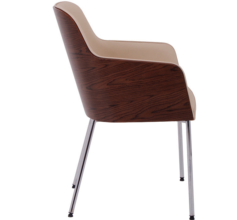 Hudson modern armchair side view