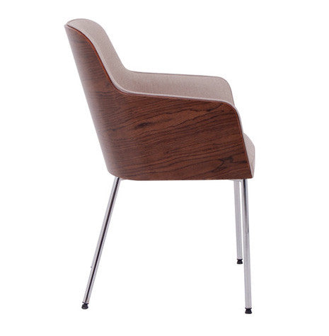 Hudson modern armchair with solid metal legs