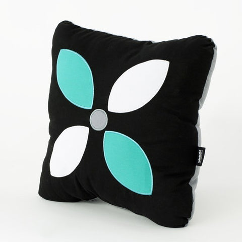 Jade and black modern throw pillow