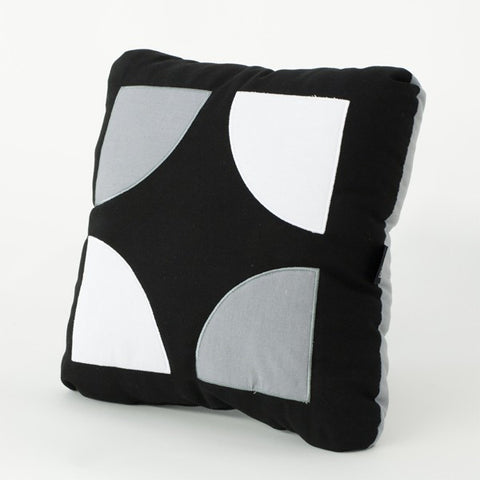Black and grey color block pillow
