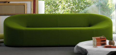 Morph modern sofa green fabric