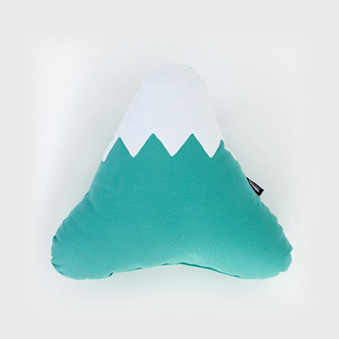 Large mountain shaped pillow in green