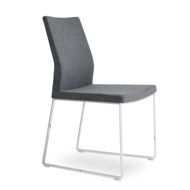 Buy Curved Minimal Design Steel Frame Sled Chair | 212Concept