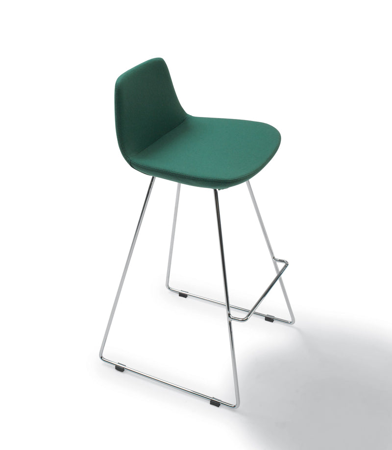 Pera modern barstool with steel wire legs