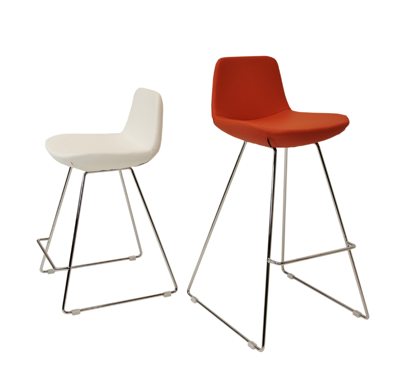 Pera Wire modern barstool and counter stool with steel frame