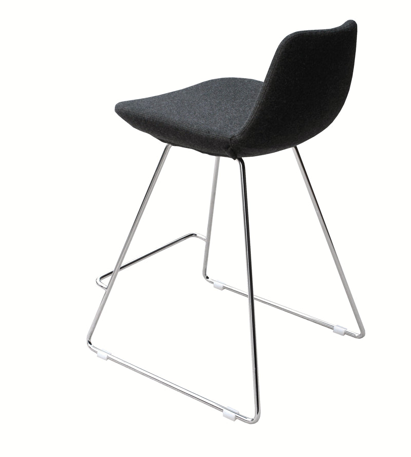 Pera Wire modern barstool rear view