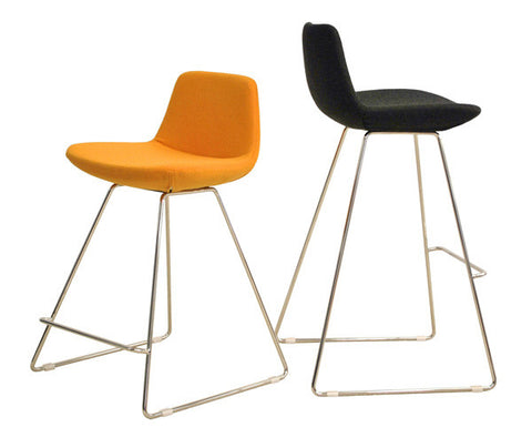 Pera modern barstool and counter stool with wire base