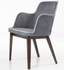 Modern Rift Armchair with Wood Base | 212Concept