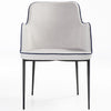 Modern Rift Armchair with Metal Base | 212Concept
