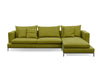 Simena Sectional Sofa - green fabric