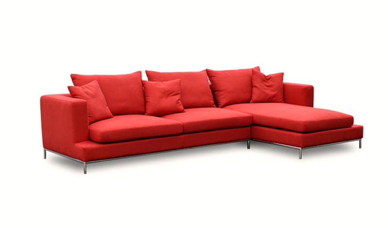Red Simena Sectional