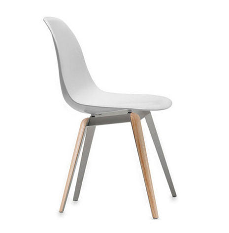 Solid white Slice modern dining chair