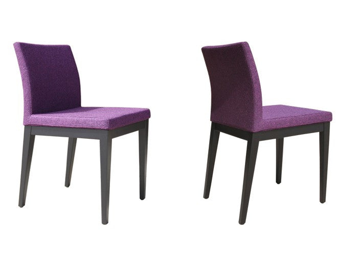 Purple wool dining chair