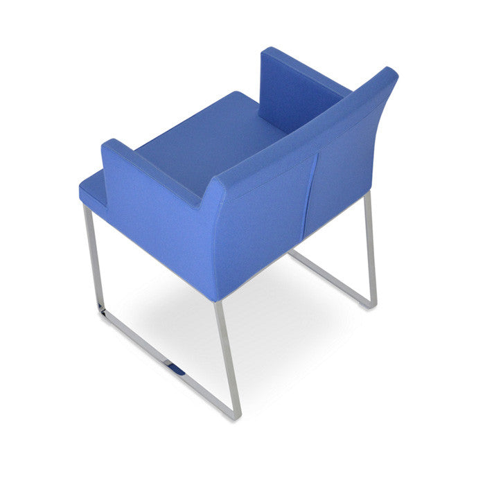 Buy Wide Steel Sled Base Armchair | 212Concept
