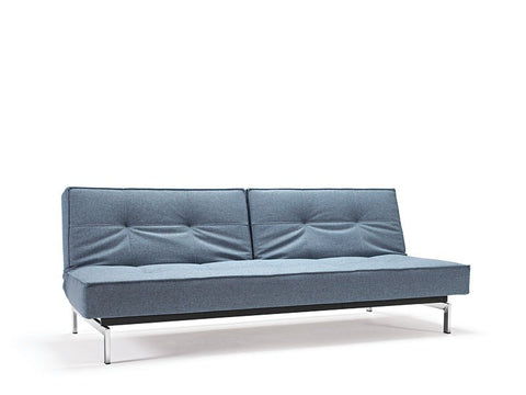 Blue convertible sofa