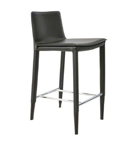 Tiffany Barstool in Black Leather