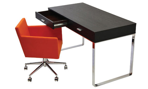 York modern computer desk with Harput Lounge Swivel chair