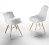 ZigZag modern dining chair and armchair with solid white shell