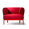 Buy Curvy Rounded Arms Wide Red Lounge Chair | 212Concept