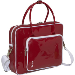"SHINE 2 - 13"" compact glossy laptop bag red"