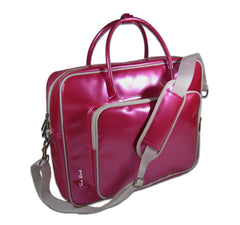 "SHINE 17"" glossy laptop bag pink"