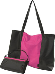 chicsac clutch's tote brown / fuchsia
