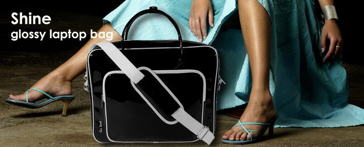 SHINE glossy laptop bag