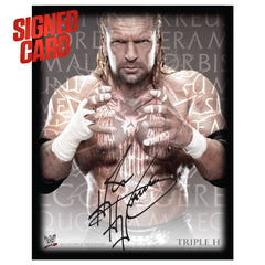Triple H Signed 11x14