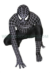 CLEARANCE: Deluxe Black Spiderman - Removable Mask (Defect)