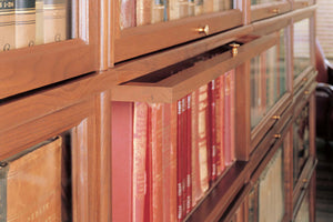 Hale Barrister Bookcase glass receding door shelf section