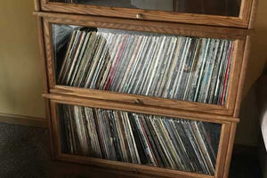 Hale Extra Deep Barrister Bookcases are deep enough to store vinyl records