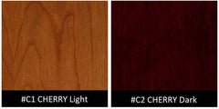 Hale Barrister Bookcases Dark Cherry and Light Cherry finish swatches