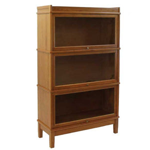 Hale Heritage Extra Deep Barrister Bookcase Walnut, Oak, Cherry, Birch 3 glass receding glass doors