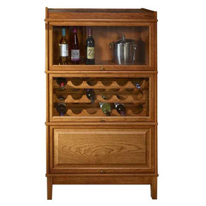 Hale Heritage Wood Wine Cabinet with receding shelf doors