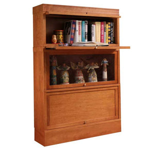 Hale 3-tier Legacy Wood Barrister Bookcase in Walnut, Cherry, Oak or Birch