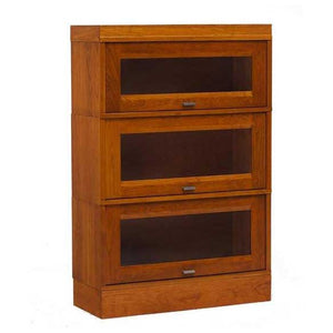 Hale Millennium Wood Barrister Bookcase with 3 receding glass door shelf sections