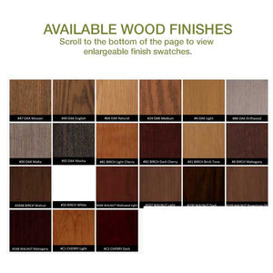 Hale bookcase wood finish swatches