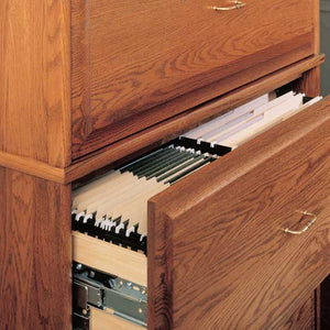 Hale Heritage Lateral File Drawers store folders, media and other essentials