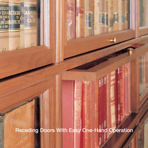 Hale Barrister Bookcase Receding Glass Door with smooth one hand operation