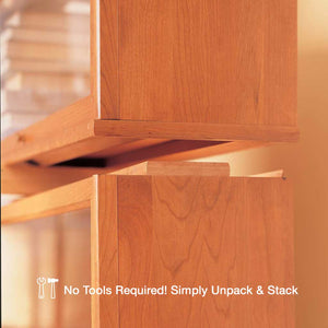 Hale Heritage Barrister Bookcase shelf sections stack securely together