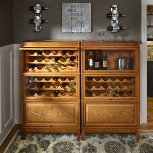 Hale Barrister wood wine cabinet